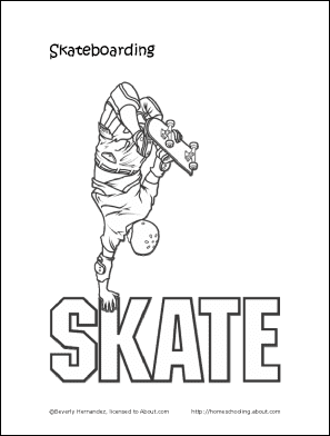 Skateboarding Printabales Skateboard Coloring Pages