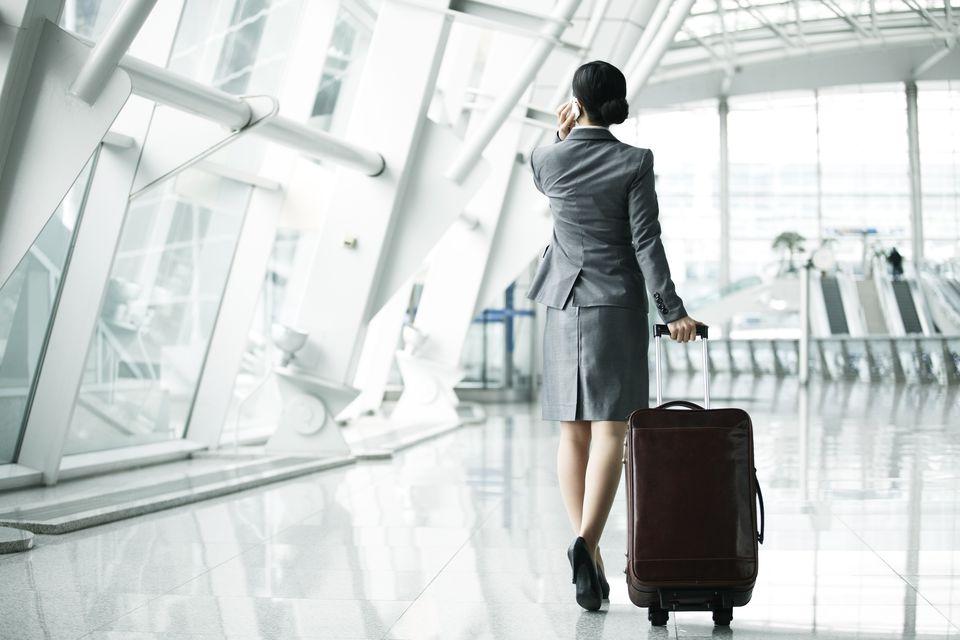 Businesswoman in airport