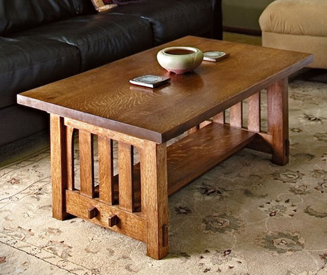 Mission Coffee Table Plan from Rockler