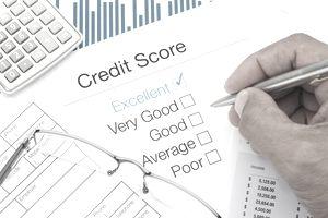 An excellent credit score