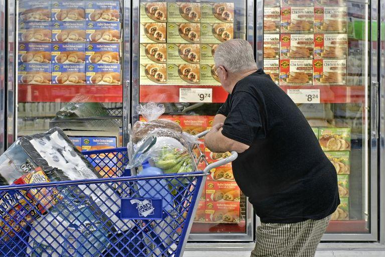 Man shopping in Sam's Club membership warehouse store