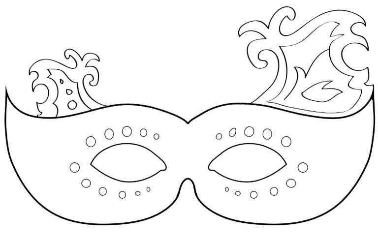 17 Free Mardi Gras Mask Templates for Kids and Adults – Free Mask Templates