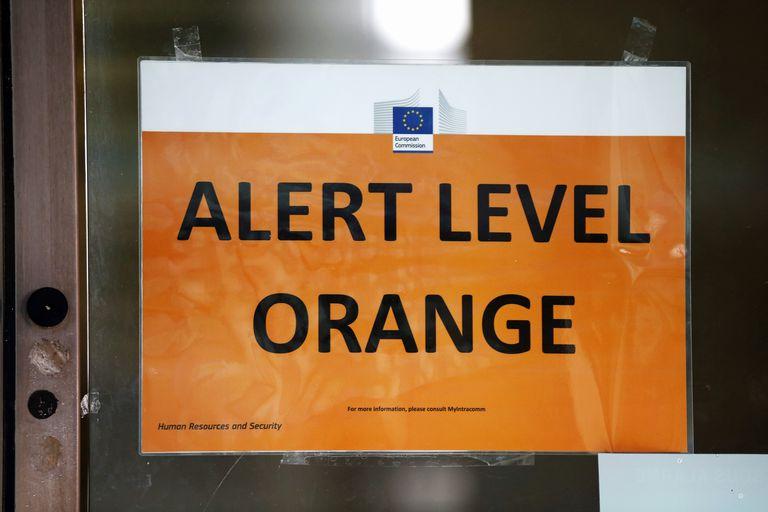 Terrorism security measures often include heightened alert levels.