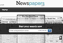 Subscription-based historical newspapers research