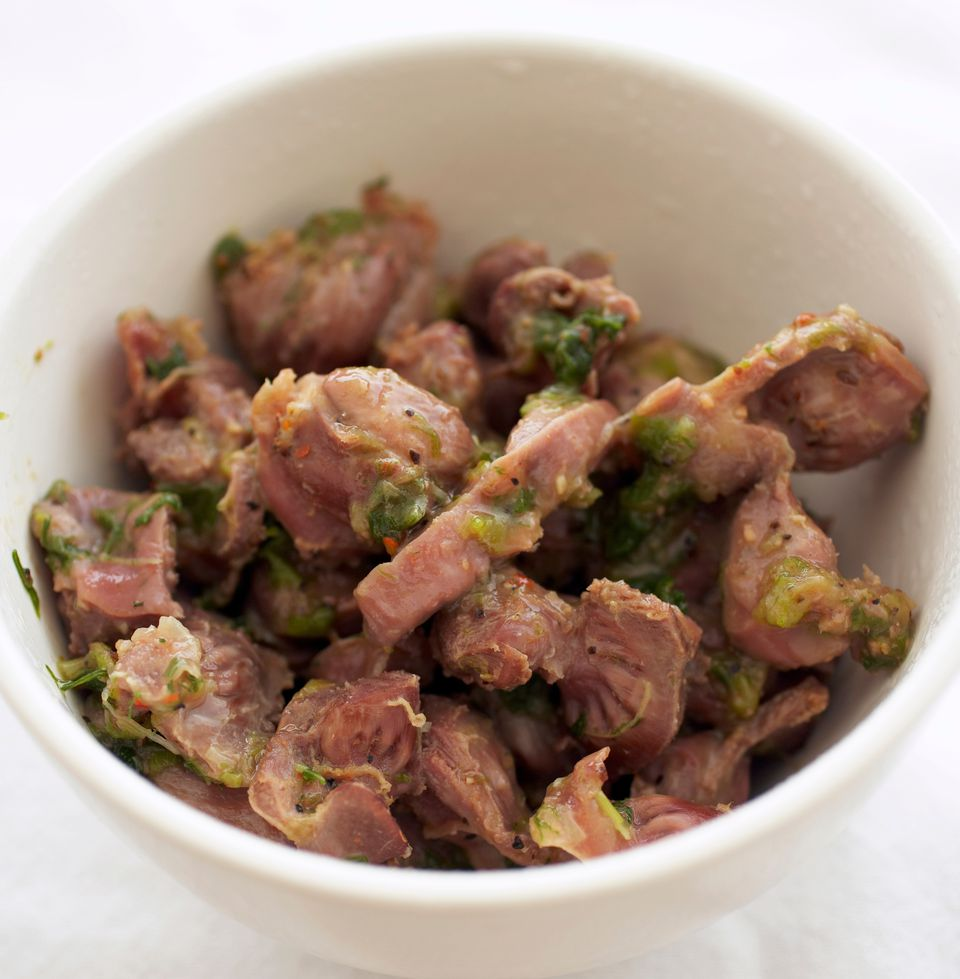 Chicken Gizzards Sauteed with Spices and Shallots