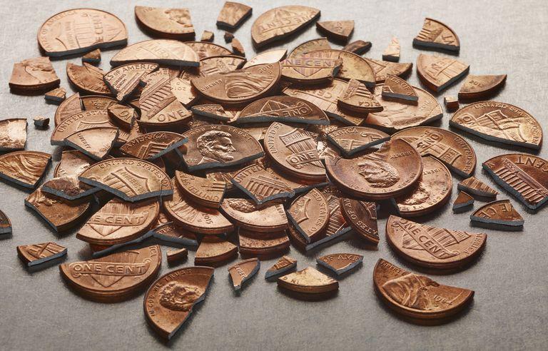 Broken pennies