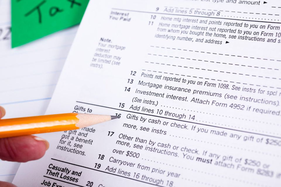 Gifts to charity tax form