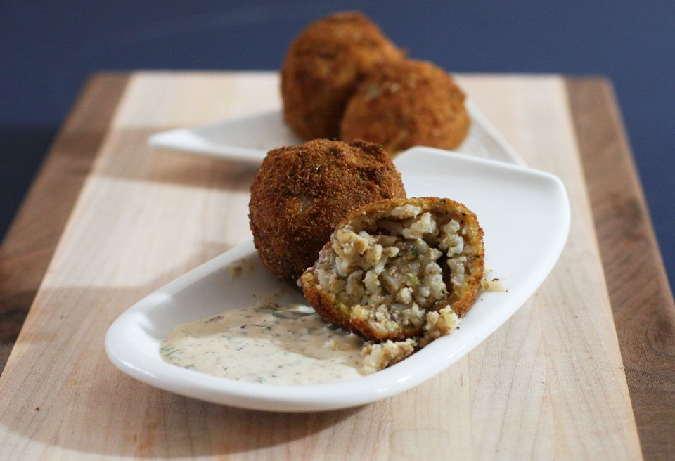Boudin Balls and Remoulade Sauce