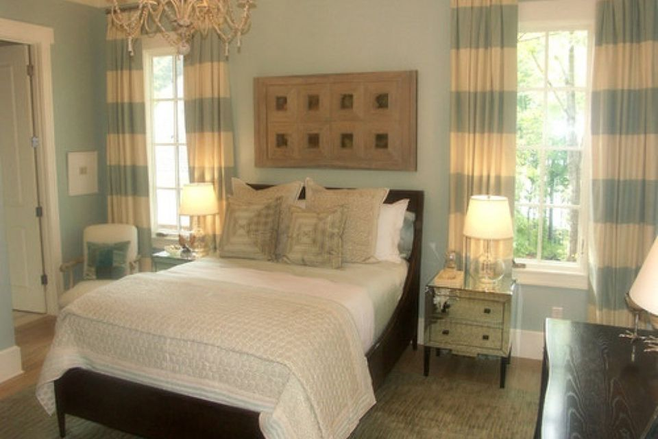 romantic bedroom furniture. Bedroom blue striped curtains What is the Romantic Decorating Style