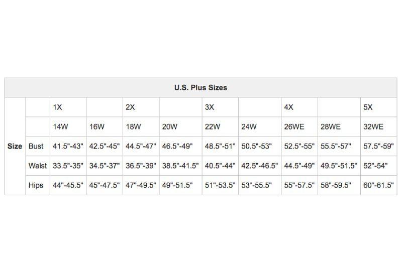 U.S. Women\'s Apparel Size Charts