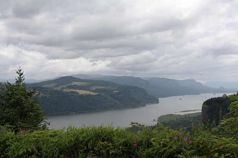 View of the Columbia River Gorge from Chanticleer Point on the Oregon Side of the Columbia River