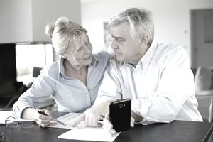 Couple reviewing retirement savings