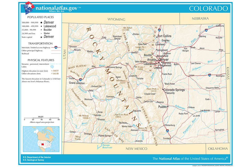 Maps Of The Southwestern US For Trip Planning - Colorado map us