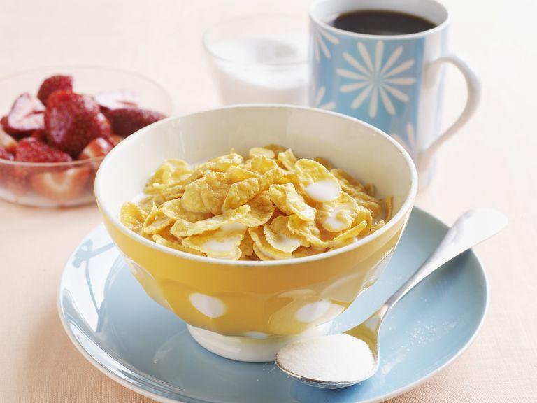 bowl of gluten-free cornflakes
