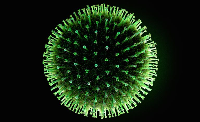 Close up of flu virus