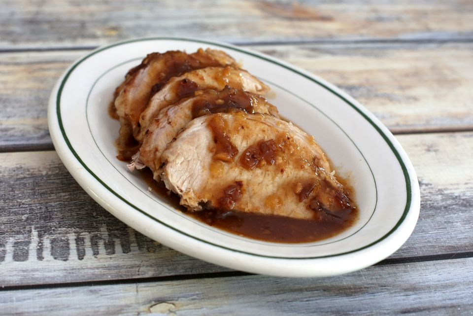 Crock Pot Cranberry Apple Pork Loin