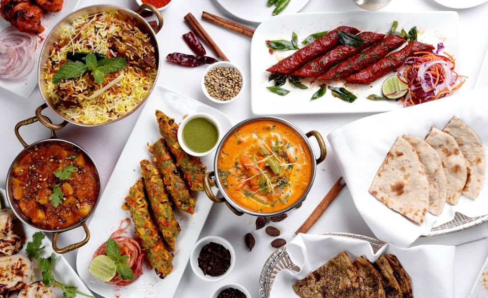 Indian food spread
