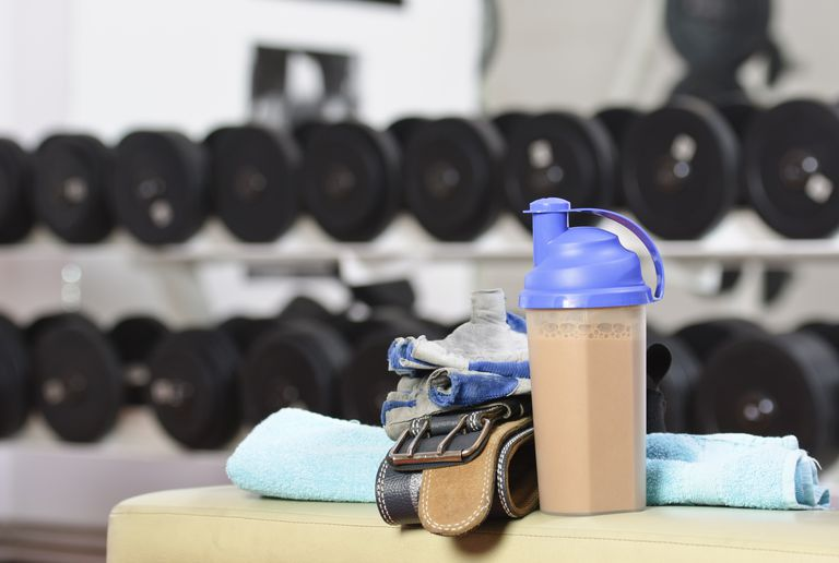 Proteins shake in the gym