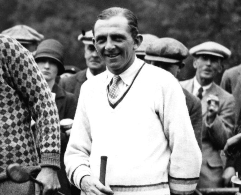 Golfer Cyril Walker pictured in 1926