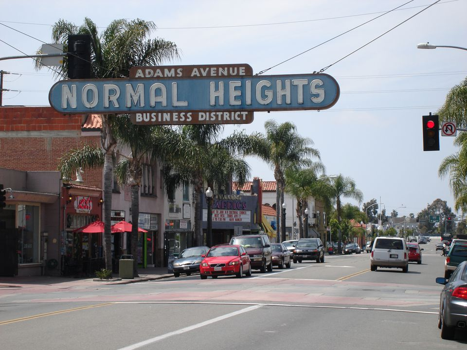 Normal Heights sign, San Diego, CA