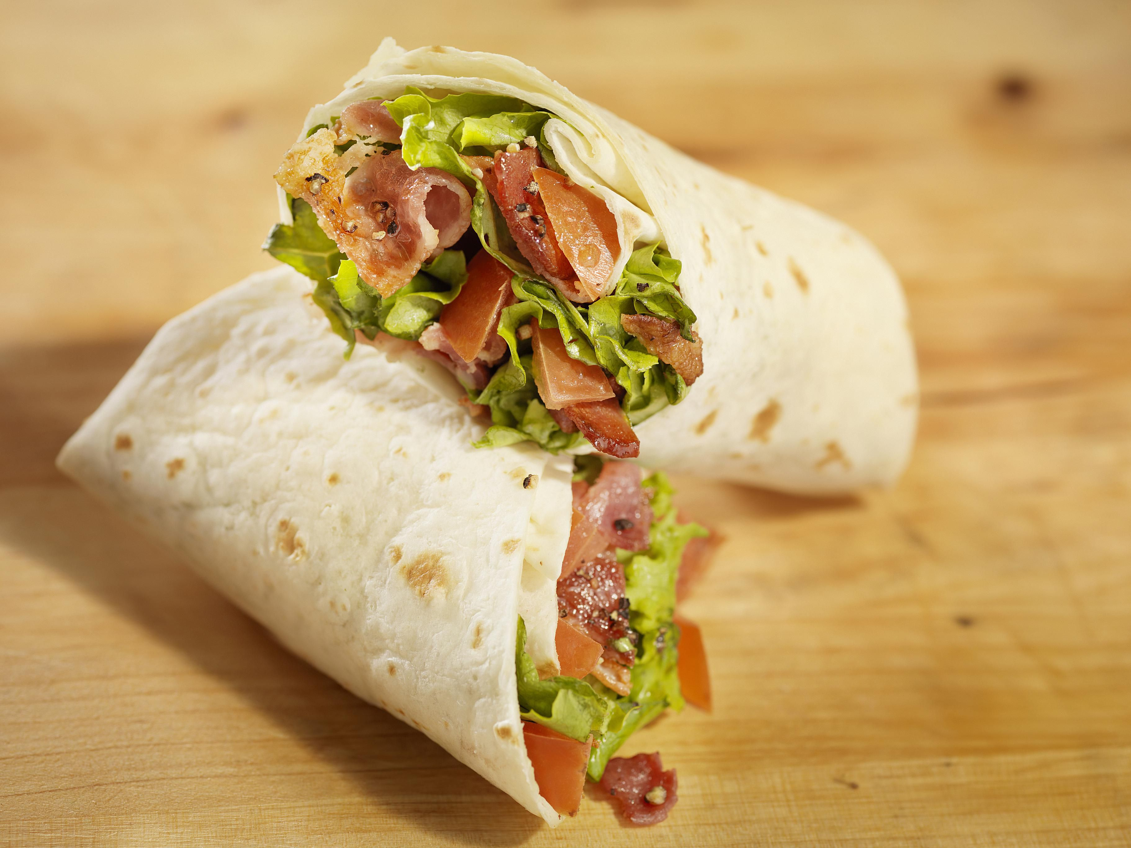 BLT Wrap Sandwiches Recipe Is Easy And Delicious