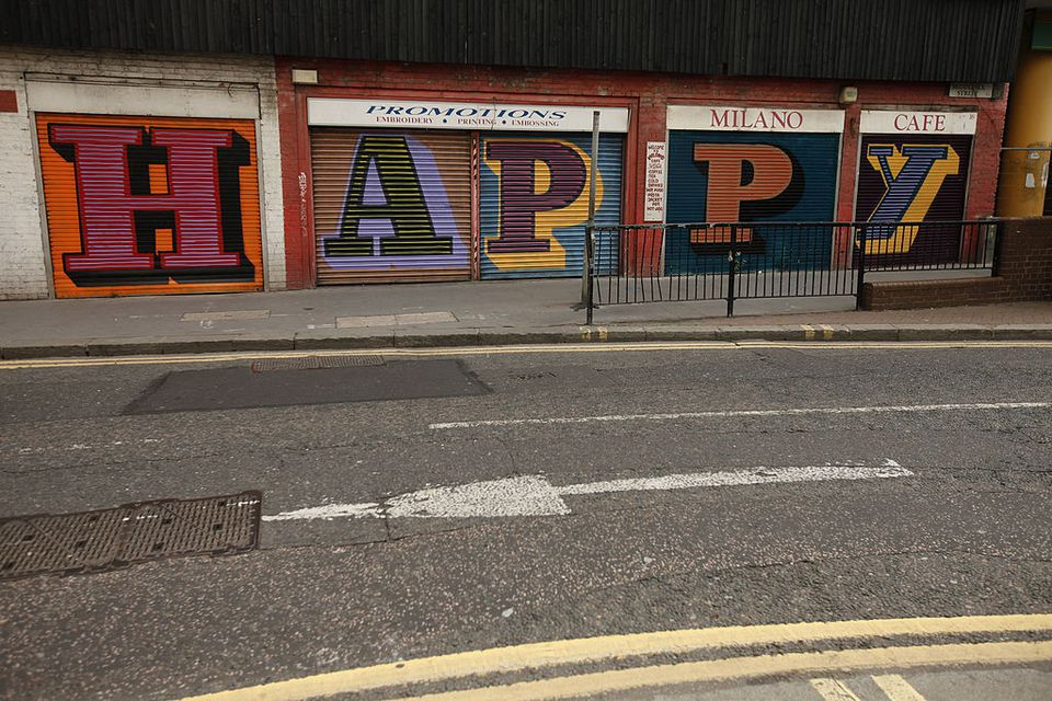 Eine Graffiti Shoreditch