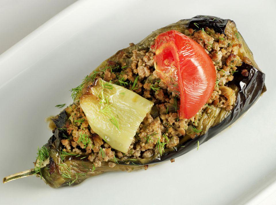 eggplant stuffed with ground beef