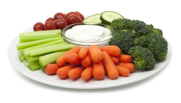 Crudite vegetable platter.