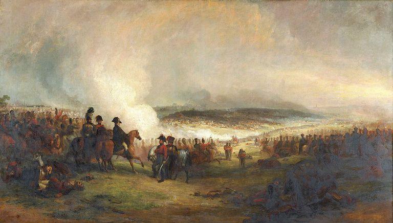 Painting of the Battle of Waterloo by artist, George Jones