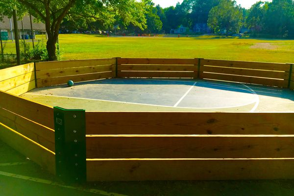 Gaga ball pit at school playground
