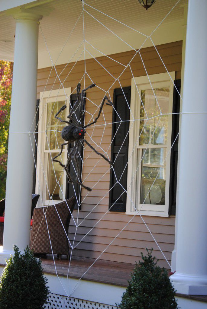 DIY Giant Spider And Web
