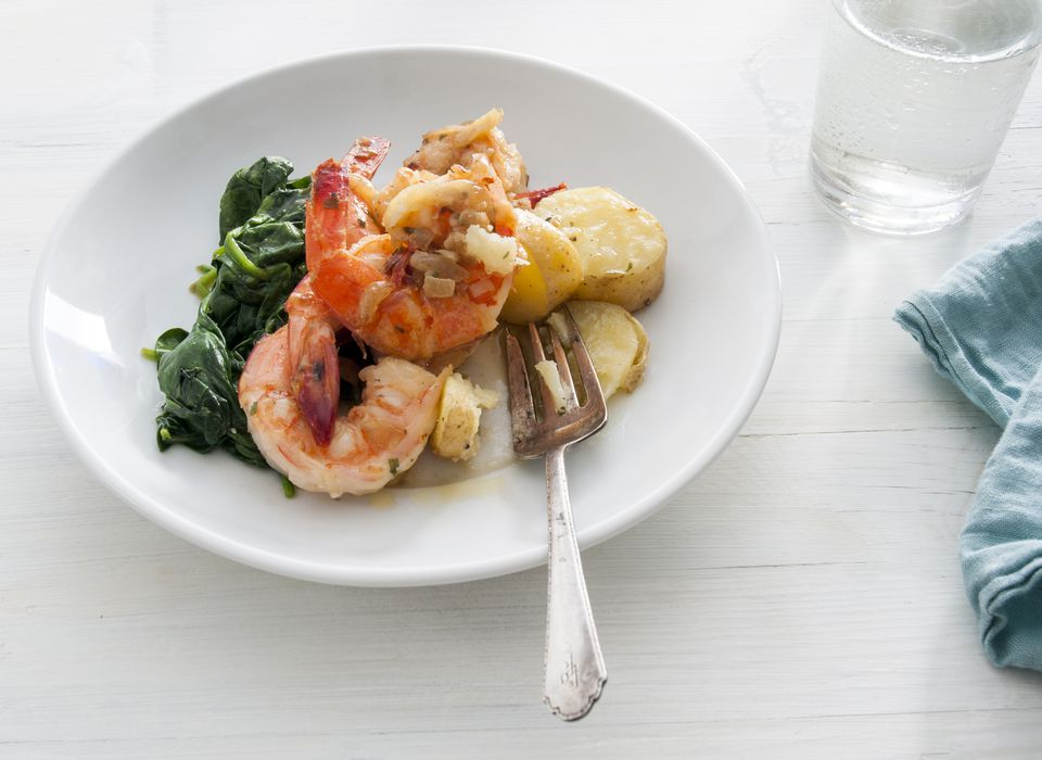 Shrimp with Spinach