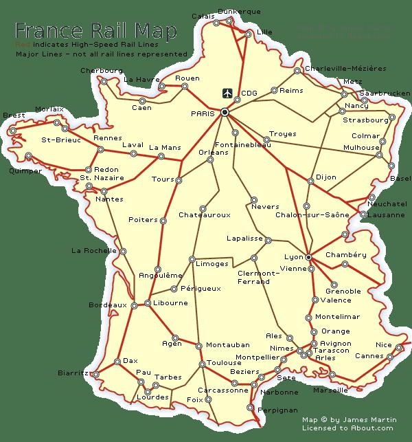 Rail map of France