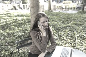 A freelancer working