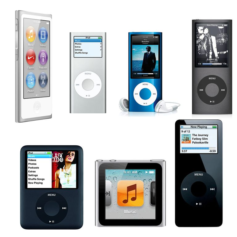 Picture of every iPod nano to date
