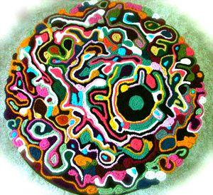 A Freeform Crochet Rug