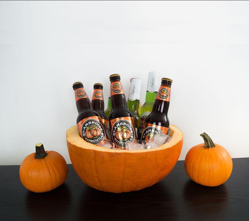 DIY Pumpkin Drinks Cooler