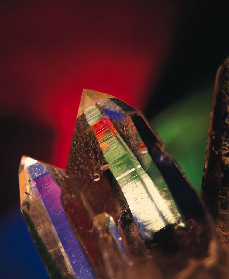 These are man-made quartz crystals or silicon dioxide crystals.
