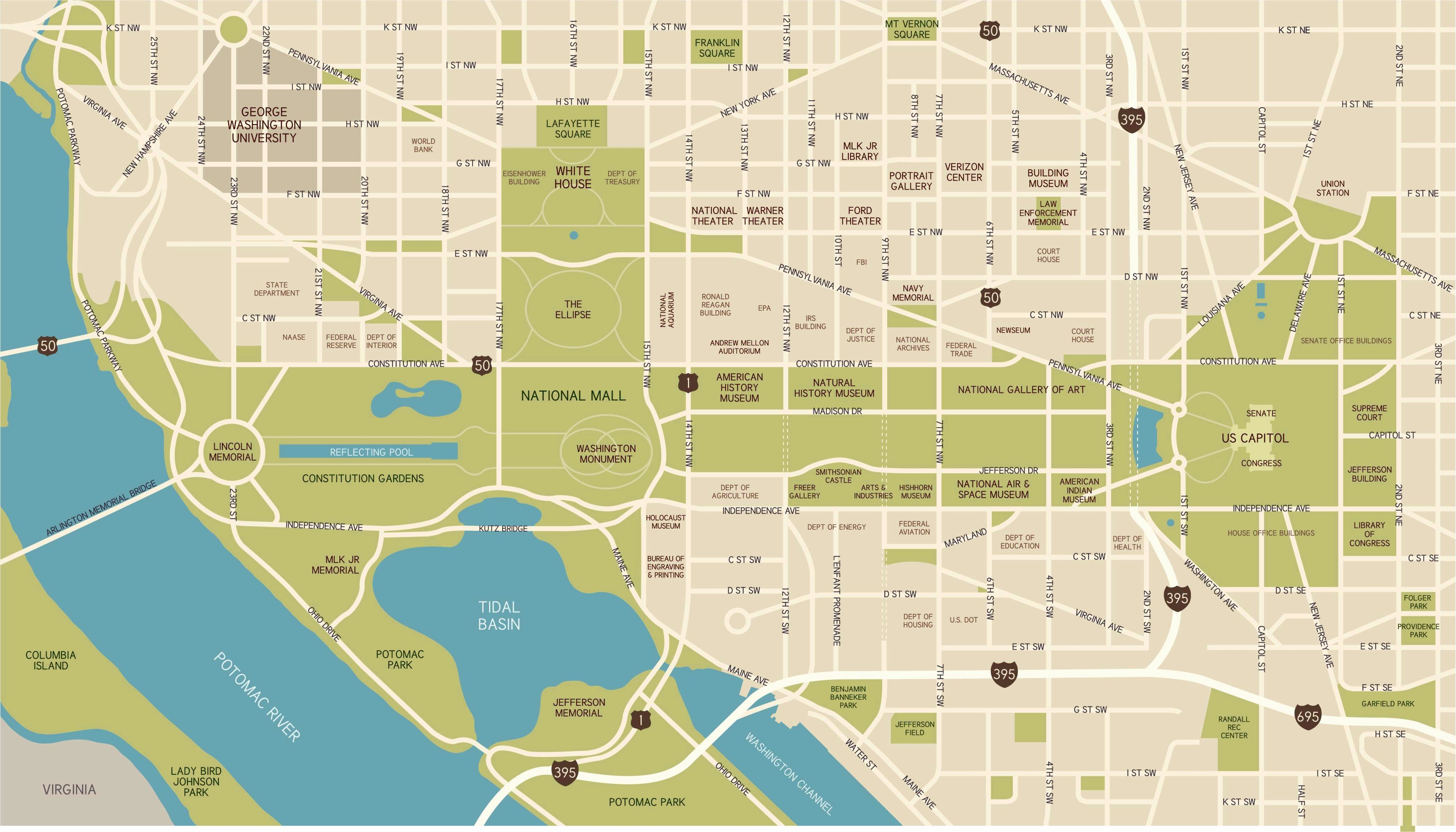 Sizzling image in national mall map printable