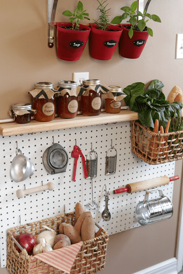 Use a Peg board in Your Kitchen Pantry