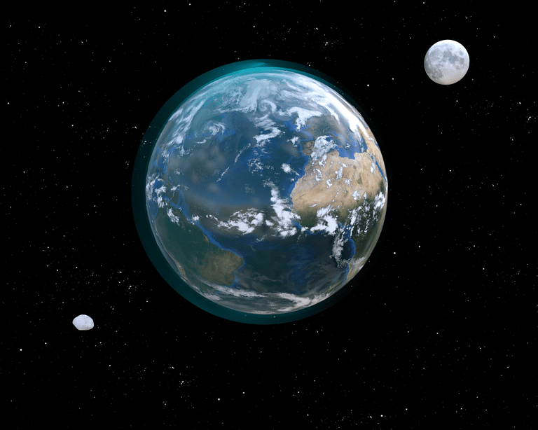Earth only has one moon, but its gravity does capture asteroids from time to time.