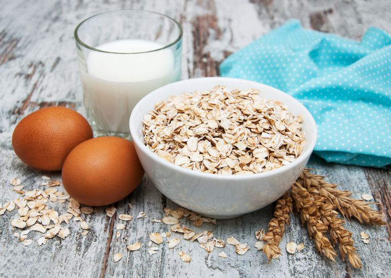 Eggs, milk, and wheat
