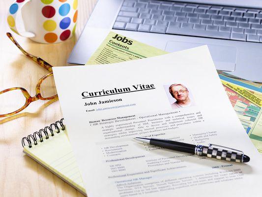 Senior job searcher's resume cv