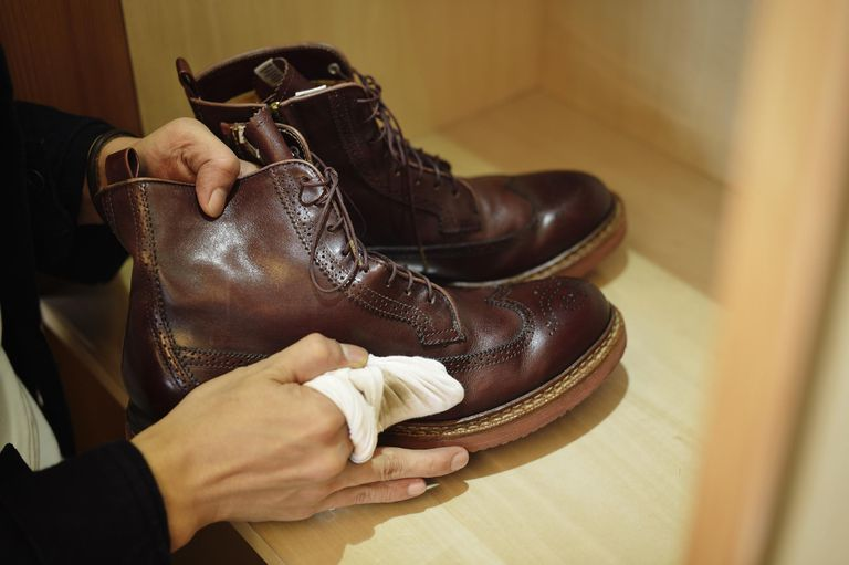 proper care for leather shoes
