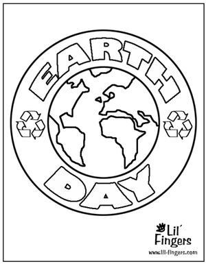 printable earth day coloring pages at lil fingers - Free Earth Day Coloring Pages