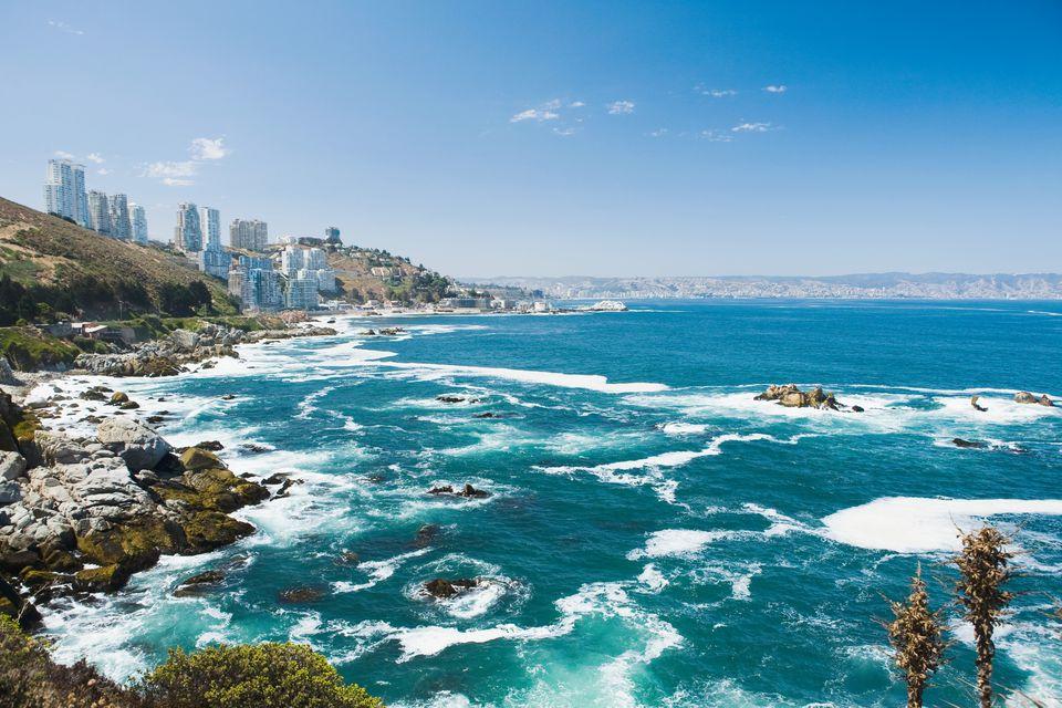 Coast of Vina Del Mar in Chile