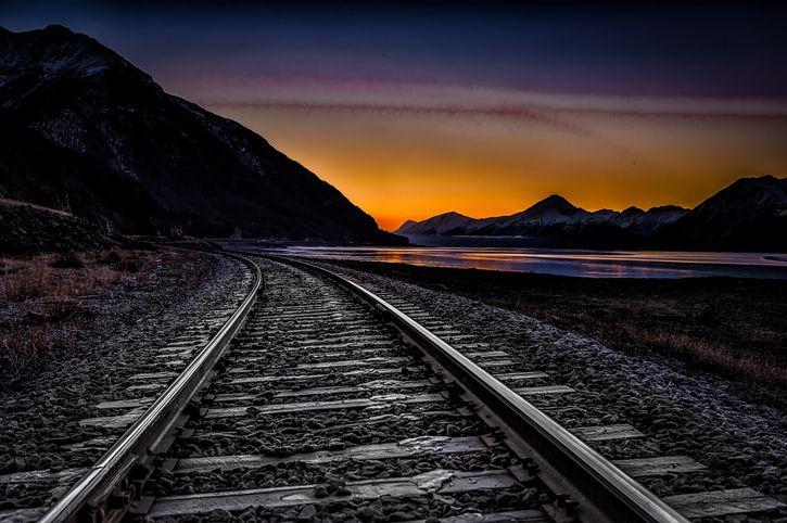 Alaska railroad tracks