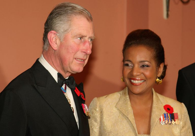 Michaelle Jean With Prince Charles in Ottawa in 2009