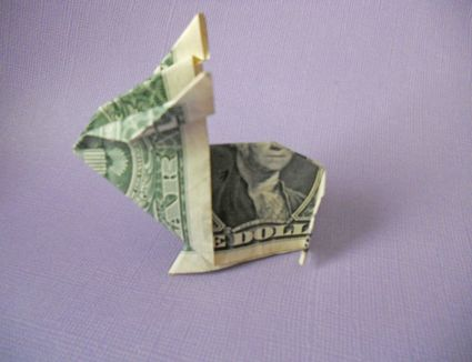 How to make a simple bouquet of origami money flowers 7 simple steps to an adorable money origami bunny mightylinksfo Choice Image