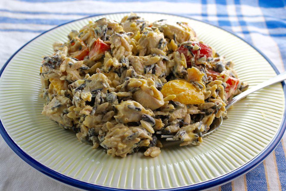 Black Bean Wild Rice Chicken Salad